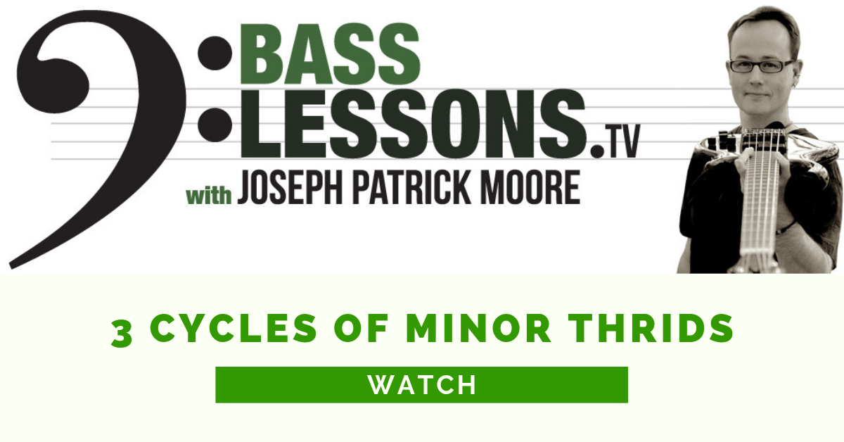 3 cycles of minor thirds