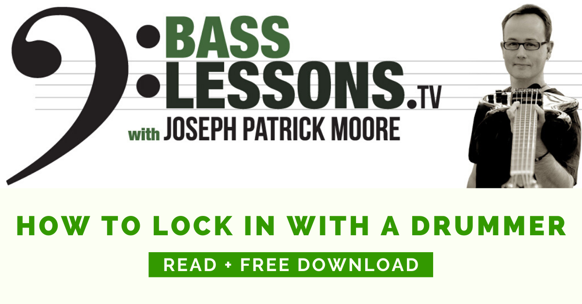How To Lock in with a drummer