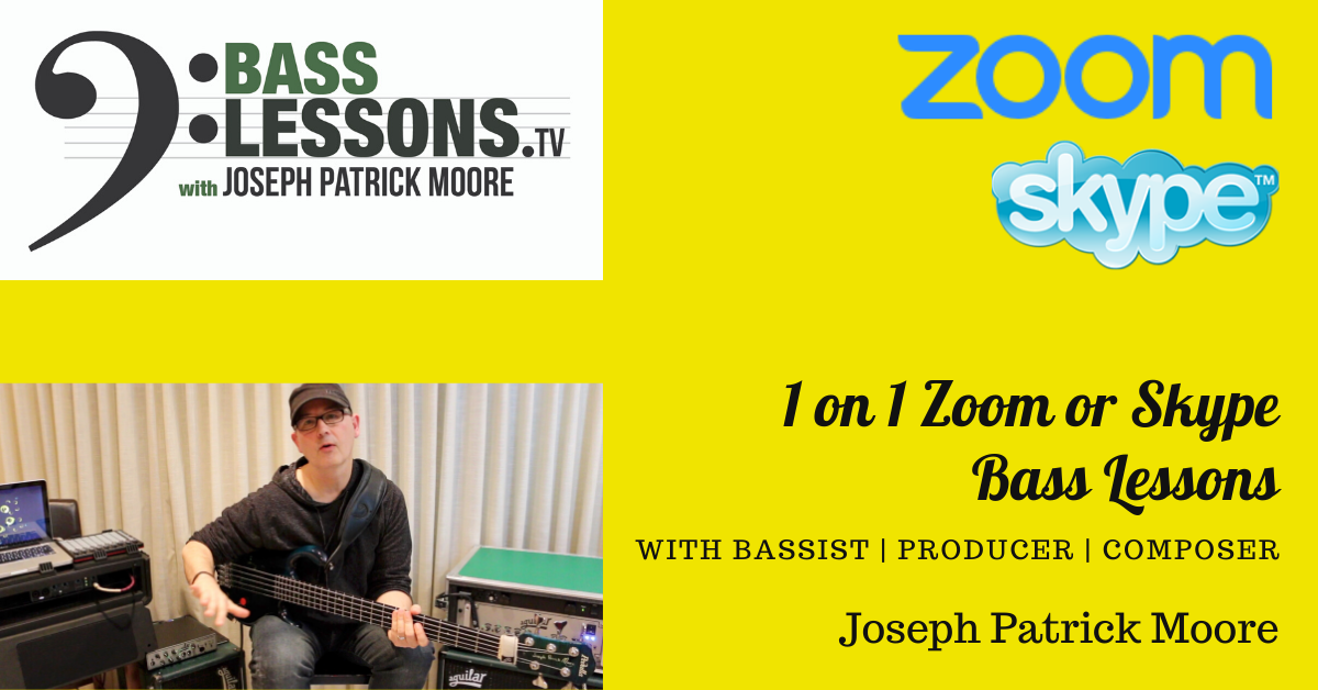 Online Bass Guitar Lessons with Joseph Patrick Moore